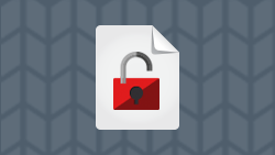 White paper icon; cybersecurity