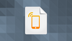 White paper icon featuring mobile phone