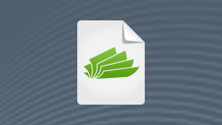 White paper icon featuring flipping pages